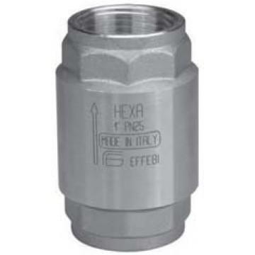Клапан обратный латунный пружинный муфтовый с металлическим затвором серии 065BXXXX