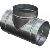 Круглый тройник из оцинкованной стали