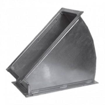 Отвод 45 градусов прямоугольный из оцинкованной стали