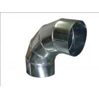 Отвод 90 градусов круглый из оцинкованной стали