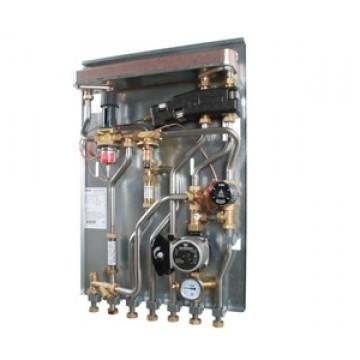 Схема: зависимое отопление и ГВС