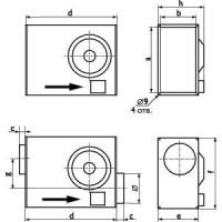 Канальные вентиляторы Ostberg для прямоугольных каналов  RK 500x300 | RKC 315